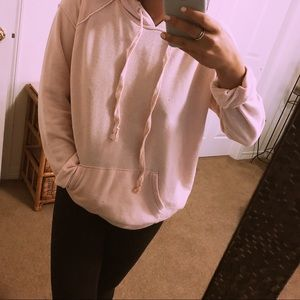 American Eagle Outfitters Tops - LIGHT PINK HOODIE | AEO